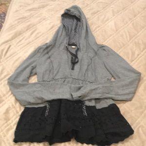 Free People Gray long sleeve hoodie